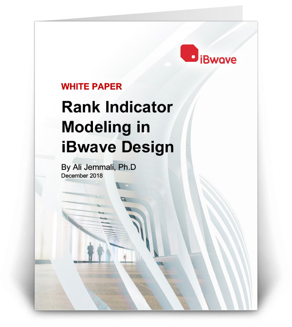 Rank Indicator Modeling in iBwave Design
