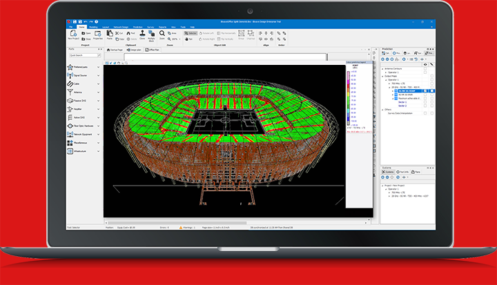 iBwave Design R12 3D stadium