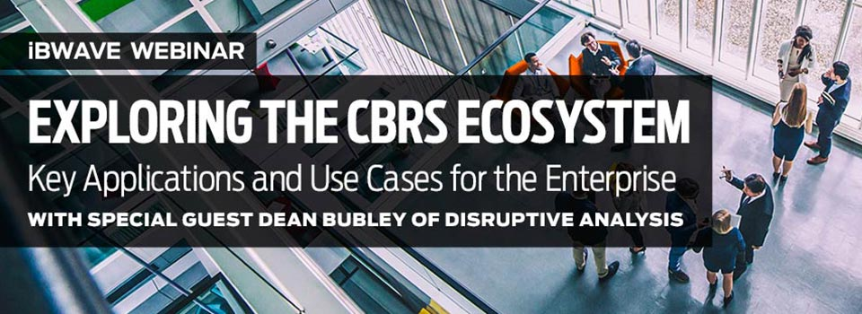 Exploring the CBRS Ecosystem webinar banner