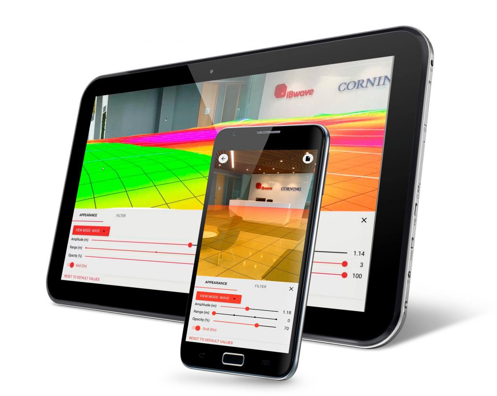 Augmented Reality on phone and tablet with iBwave Wi-Fi Mobile