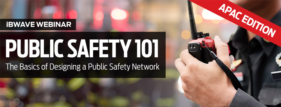 Public Safety 101 webinar banner - APAC Edition