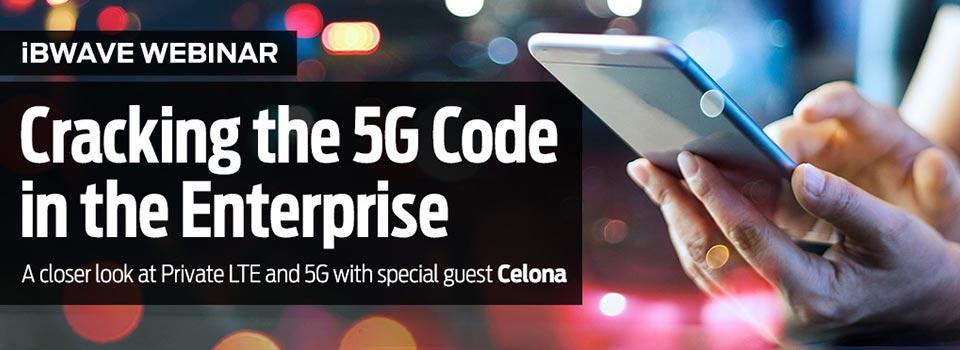Cracking the 5G Code in the Enterprise webinar banner